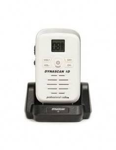 DYNASCAN 1D Emisora mini  Portatil FM UHF PMR-446 Blanca miniatura y sin antena de goma