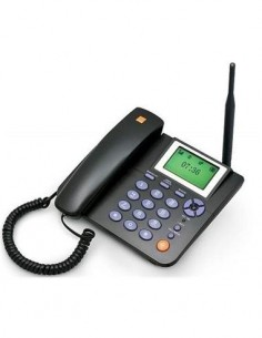 DIGI ZTE Telefono libre Sobremesa GSM 2G Sim WP623 Negro
