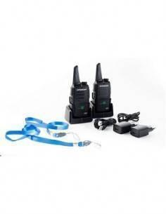 DYNASCAN Pack de 2 Emisoras LB23 PMR-446 Bibanda, 8 Canales