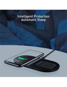 BASEUS Cargador Inalambrico 2 En 1 Para IPHONE,Airpods Simple WXJK-C01 Negro