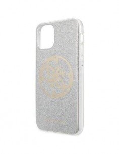 GUESS Funda Iphone 11 Pro Brillante Glitter Plata