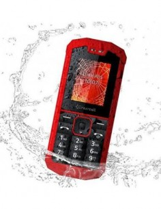 CROSSCALL Telefono Movil SPIDER-X1 Rojo Impermeable, Dual Sim, Camara, Linterna, Micro Sd