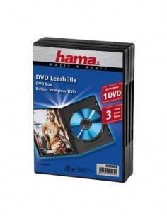 HAMA 49464 Pack de 3 Cajas de DVD de 1 Pieza