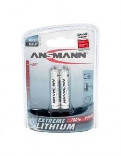 ANSMANN Pila AAA 1.5V Extreme Litio - Pack de 2