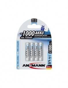 ANSMANN Pila AAA Recargable 1000Mah - Pack de 4