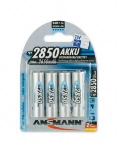 ANSMANN Pila AA Recargable 2850Mah Ni-Mh - Pack De 4
