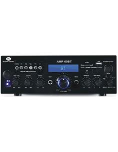 AC Amplificador Hi-Fi Estereo AMP 60 Bluetooth Con MP3, Usb, Sd