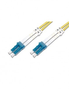 DIGITUS Cable Fibra Duplex LC A LC SM 9/125um LSZH OS2 1Mtr Amarillo