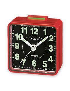 CASIO Reloj Despertador Mod TQ-140-4EF Rojo