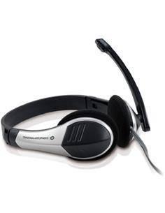 CONCEPTRONIC Micro Auricular de Casco Con Cable POLONA Para PC VOIP,Usb CCHATSTAR2 Plata