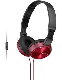 SONY Auricular de Casco Con Microfono MDR-ZX310AP Plegable Rojo