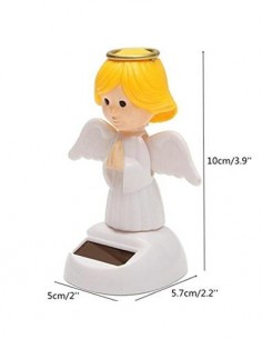 Figura Solar De Plastico Diseño Angel Con Alas