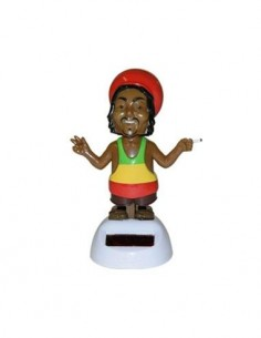Figura Solar De Plastico Diseño Rastafari