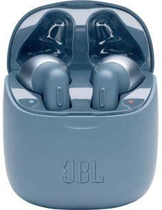 JBL Auricular Bluetooth TUNE 220 TWS Zero Cables Con Estuche de Carga Azul,Control Por Voz