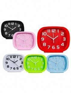Despertador De Plastico 19x15 Cms Varios Colores