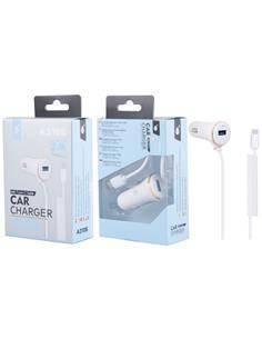 ONE PLUS Cargador Coche 1XUsb + Cable Tipo C A3105 5V/2.4A Blanco