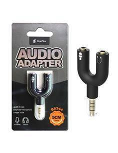 ONE PLUS Adaptador de Audio Jack 3.5/M 3 Puntos a 2X Jack 3.5/H Blanco B5344