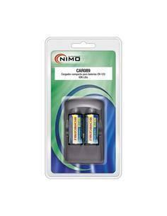 NIMO CAR089 Cargador + 2 Bateria CR123 Litio Recargable Para Camara