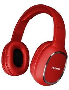 TOSHIBA Auricular de Casco Bluetooth BT160H Roja Manos Libres