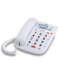 ALCATEL Telefono Fijo Sobremesa TMAX 20 Blanco Con Teclas Grandes,Funcion Audio Boost