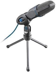 TRUST MICO Microfono Con Tripode Para PC Con Jack 3.5mm y Adaptador Usb a2X Jack Micro + Auric 23790