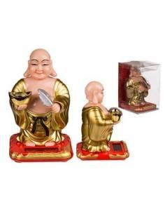 Figura Solar De Plastico Diseño Buddha