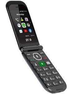 SPC Telefono Movil JASPER Negro Camara, Bluetooth,Radio Fm,Boton SOS,Micro Sd