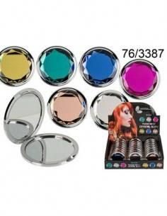 Espejo Bolsillo Redondo Crystal Glow Colores