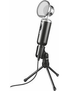TRUST Microfono De Mesa MADELL Vintage Con Soporte, 2.5Mtrs De Cable, Filtro