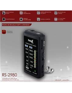 SAMI Radio Bolsillo Analogica AM/FM  RS-2980 Con Auricular Negra