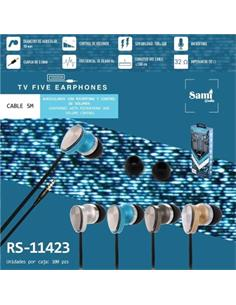 SAMI Manos Libres Portatil RS-11423 Con Cable,Jack 3.5mm Surtido Colores