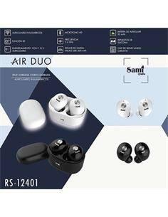 SAMI Auricular Estereo Bluetooth MINI XS RS-12405 TWS Con Estuche de Carga Blanco