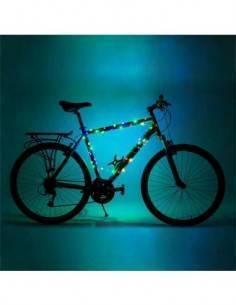 Guirnalda de Luces Con 60 Led Multicolor Para Cuadros de Bicicleta, Resistente al Agua