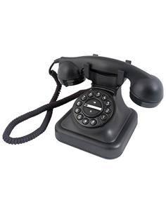 GRAHAM Telefono Clasico D-SING Negro Cable Trenzado/R/Flash