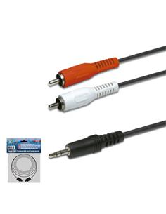 Cable Jack 3.5ST/M - 2X RCA/M 10 Mtrs