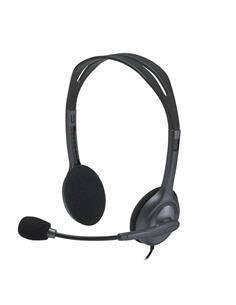 LOGITECH Micro Auricular Para PC/Smartphone/Movil H111 Jack 3.5 Negroº