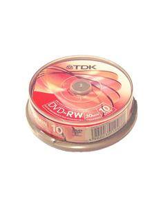 TDK Pack de 10 DVD-RW Para Video Camara 30Min 1-2X