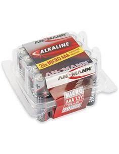ANSMANN Pack de 20 Pilas AAA LR03 1.5V
