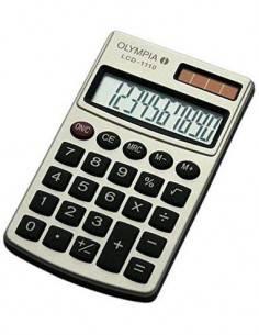 OLYMPIA Calculadora De Bolsillo 10 Dígitos LCD 1110 Plata Pila/Solar