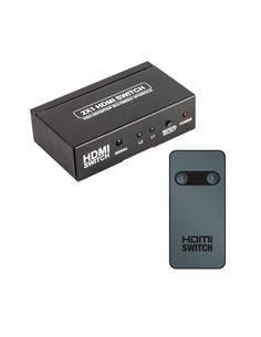 Switch Hdmi 2 Entrada-1 Salida 4K Con Alimentador Y Mando ACTVH002