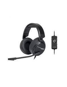 FONESTAR Auricular de Casco Gaming WIN-U Con Microfono Abatible Cable Con Usb Negro