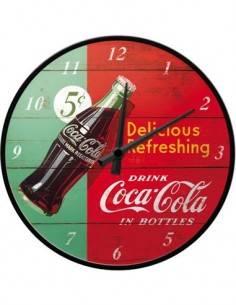 Reloj De Pared Coca Cola Delicious Refreshing Verde 31Cms