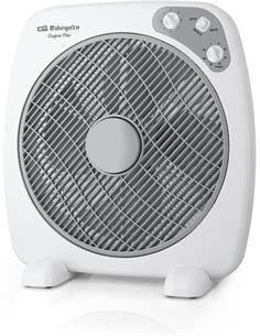 ORBEGOZO Ventilador Suelo 60W Con Aspas 40Cms Con Velocidades y Temporizador Blanco 12942