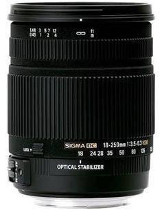SIGMA Objetivo 18-250MM F3.5-6.3 DC OS Optical Estabilizador Nikon