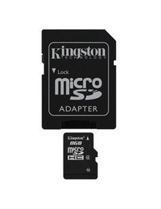 KINGSTON Tarjeta Memoria Micro SDHC 8 Gb + Adaptador SD