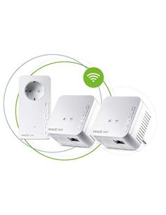 DEVOLO Kit de 3 PLC MAGIC 1 Wifi Mini 08576 Con Enchufe Integrado 1200Mbps