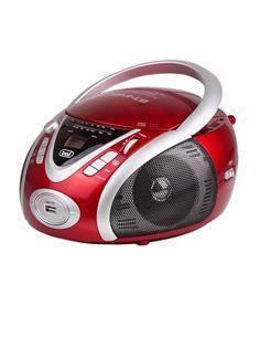 TREVI CMP542USB Radio CD Portatil Con USB Programable Rojo
