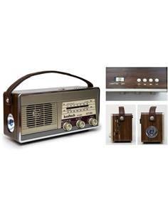 KOOLTECH Radio Portatil AM/FM  Bluetooth Retro CPR SWING Usb,Micro Sd,Aux In,Linterna