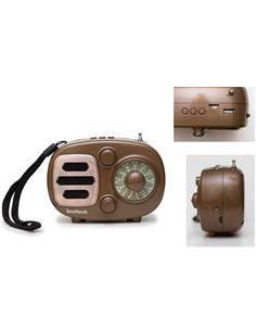 KOOLTECH Radio Portatil AM/FM/SW Bluetooth Retro CPR R&B Usb,Micro Sd