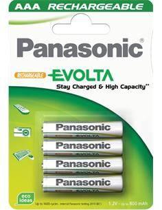 PANASONIC Pack 4 Pilas Recargable AAA 750mAh Ya Cargada